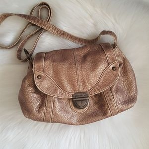Sparrow Tree Faux Leather Crossbody Handbag